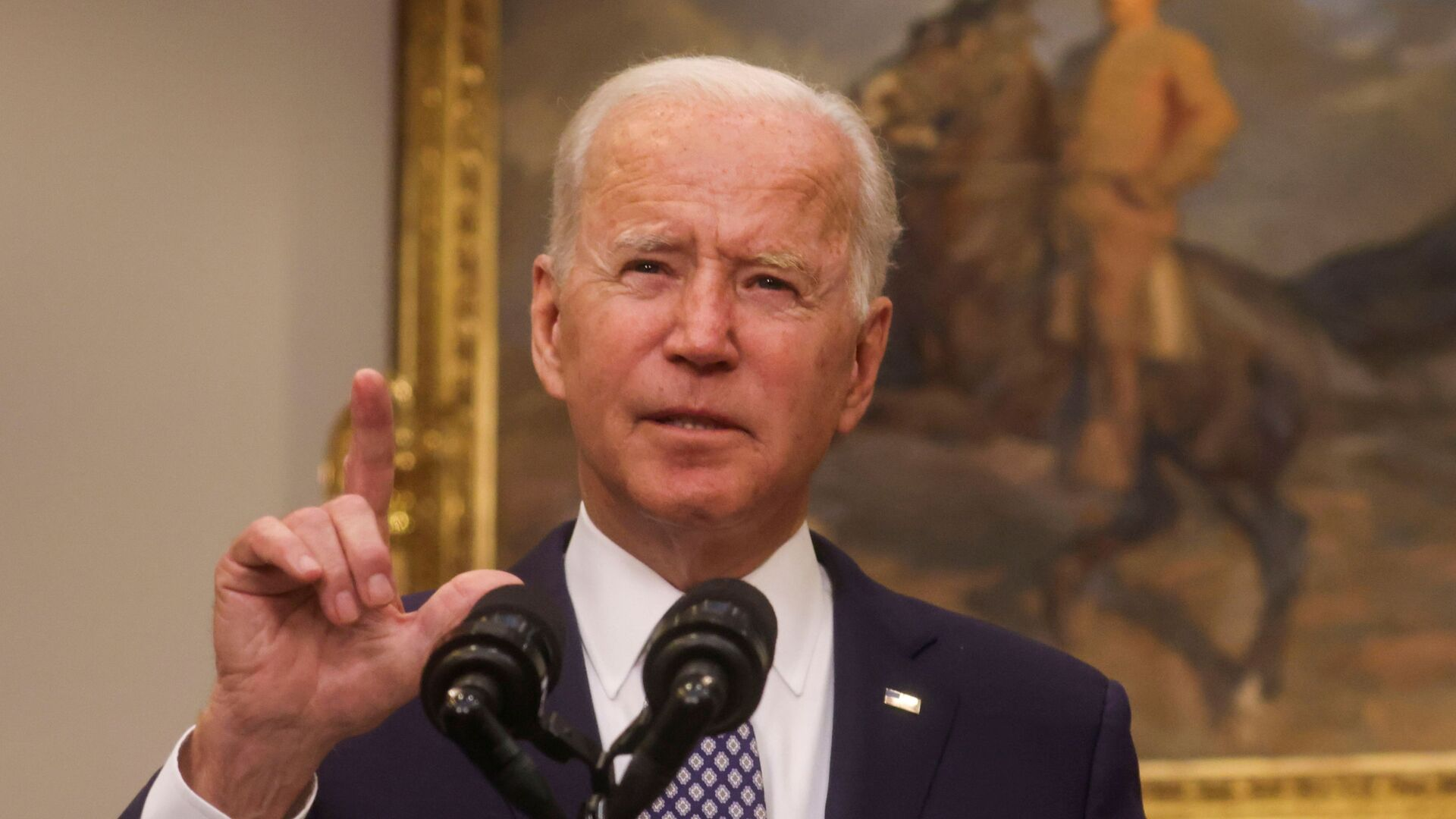 FILE PHOTO: U.S. President Joe Biden delivers remarks on the situation in Afghanistan, in the Roosevelt Room at the White House in Washington, U.S., August 24, 2021 - Sputnik International, 1920, 26.08.2021