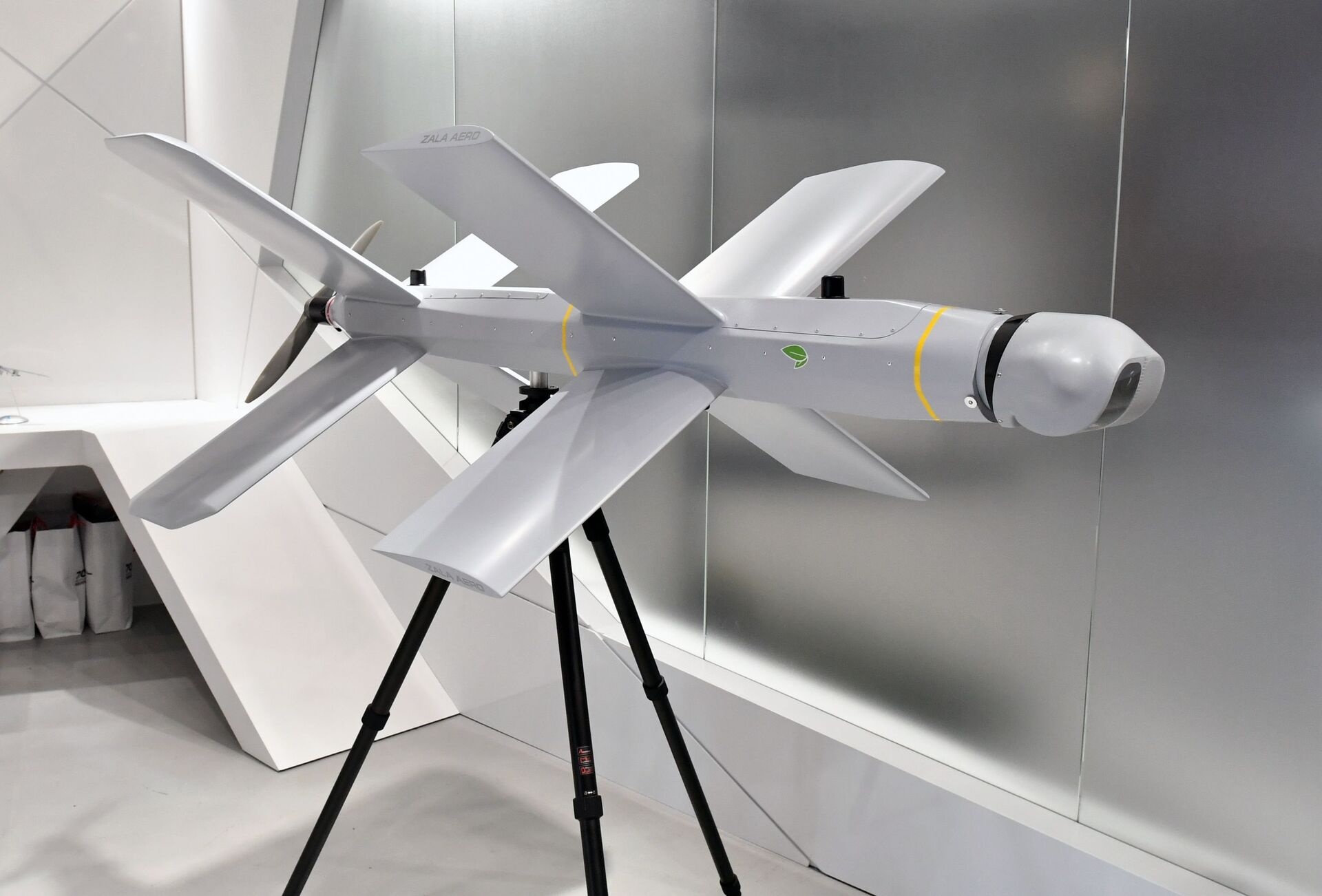 An unmanned aerial vehicle is displayed at the ARMY 2019 International Military and Technical Forum, in Kubinka, Moscow region, Russia - Sputnik International, 1920, 07.09.2021