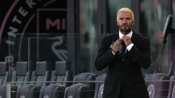 Fort Lauderdale, FL, USA; Inter Miami CF owner David Beckham watches warm ups prior to the match between the Inter Miami CF and the CF Montreal at DRV PNK Stadium - Sputnik International