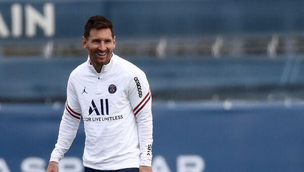 Paris St Germain's Lionel Messi during training, 28 August 2021 - Sputnik International