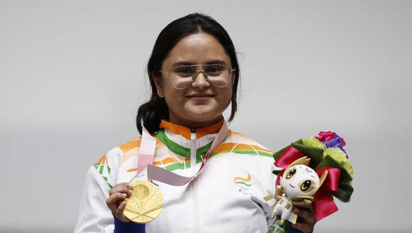 Tokyo 2020 Paralympic Games - Shooting - R2 - Women's 10m Air Rifle Standing SH1 - Medal Ceremony - Asaka Shooting Range, Tokyo, Japan - August 30, 2021.  - Sputnik International