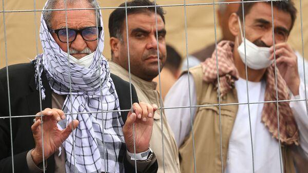 Эвакуированные из Афганистана на американской авиабазе Рамштайн в Германии  - Sputnik International
