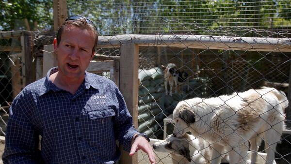 FILE PHOTO: Pen Farthing, founder of animal shelter Nowzad, stands in front of a cage in Kabul - Sputnik International