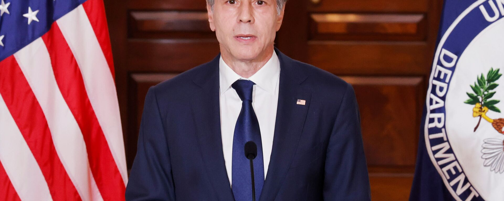 U.S. Secretary of State Antony Blinken delivers remarks following talks on the situation in Afghanistan, at the State Department in Washington, U.S., August 30, 2021 - Sputnik International, 1920, 14.09.2021