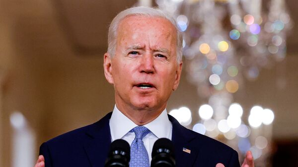 U.S. President Joe Biden delivers remarks on Afghanistan during a speech in the State Dining Room at the White House in Washington, U.S., August 31, 2021. - Sputnik International