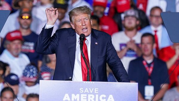 Former U.S. President Donald Trump speaks during a rally in Cullman, Alabama, U.S., August 21, 2021 - Sputnik International