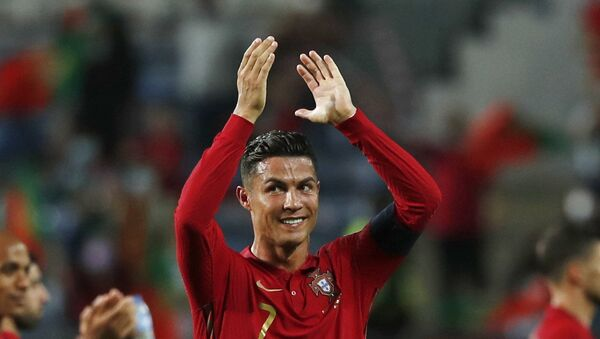 Soccer Football - World Cup - UEFA Qualifiers - Group A - Portugal v Republic of Ireland - Estadio Algarve, Almancil, Portugal - September 1, 2021 Portugal's Cristiano Ronaldo celebrates after the match  - Sputnik International