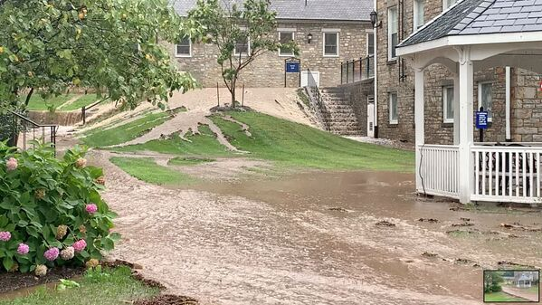 General view of floodwater during flash floods in Emmitsburg, Maryland, US, 1 September 2021, in this still image taken from video obtained from social media. - Sputnik International