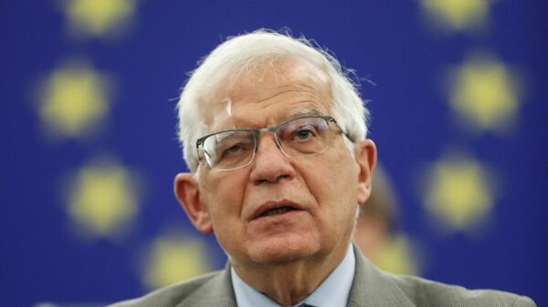 FILE PHOTO: Josep Borrell, vice president of the European Commission in charge of coordinating the external action of the European Union, delivers a speech at the European Parliament, in Strasbourg, France, June 8, 2021 - Sputnik International