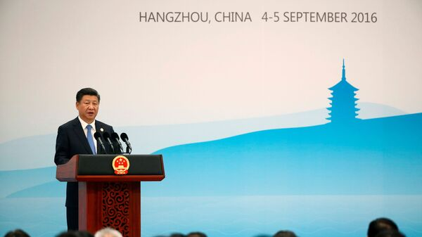 China's President Xi Jinping speaks at a news conference after the closing of G20 Summit in Hangzhou, Zhejiang Province, China, September 5, 2016. REUTERS/Damir Sagolj/File Photo - Sputnik International