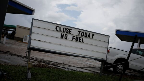 A sign that reads Close Today. No Fuel is seen at a gas station after Hurricane Ida made landfall in Louisiana, in Houma, Louisiana, U.S. September 1, 2021. REUTERS/Marco Bello - Sputnik International