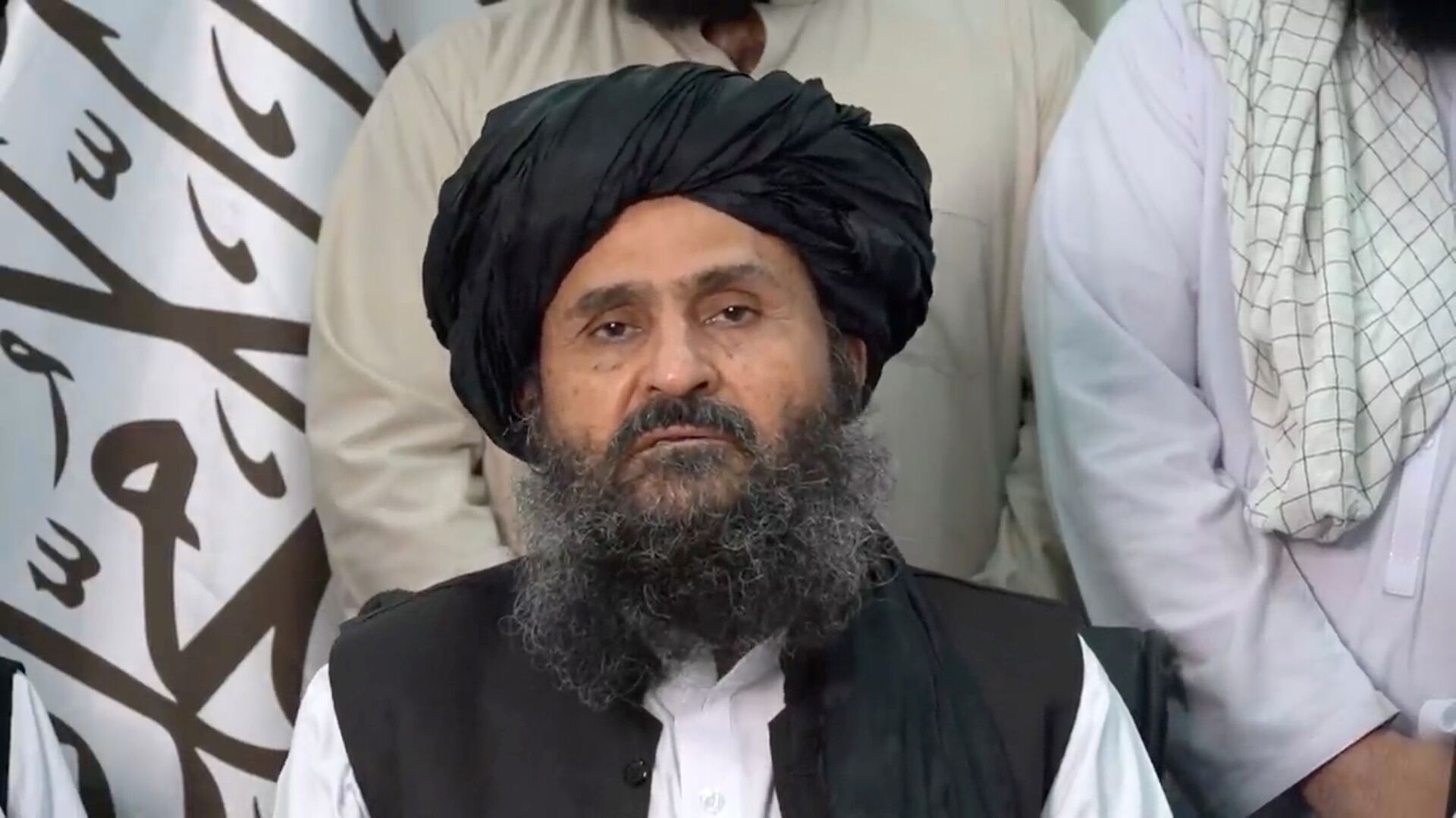 Mullah Baradar Akhund, a senior official of the Taliban, makes a video statement, in a still image taken from a video recorded in an unidentified location and released on August 16, 2021 - Sputnik International, 1920, 07.09.2021