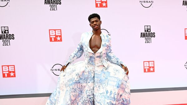 LOS ANGELES, CALIFORNIA - JUNE 27: Lil Nas X attends the BET Awards 2021 at Microsoft Theater on June 27, 2021 in Los Angeles, California - Sputnik International