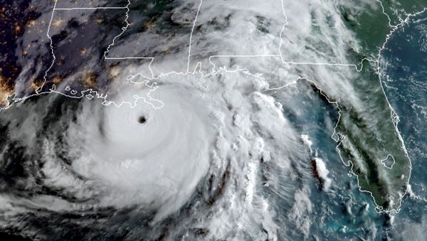 A satellite image shows Hurricane Ida in the Gulf of Mexico and approaching the coast of Louisiana, U.S., August 29, 2021.   - Sputnik International