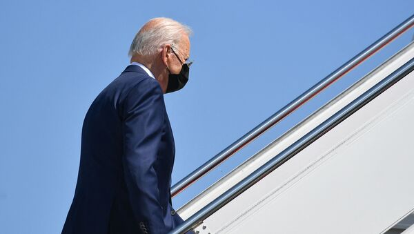 US President Joe Biden makes his way to board Air Force One before departing from Andrews Air Force Base, Maryland on 3 September 2021 - Sputnik International