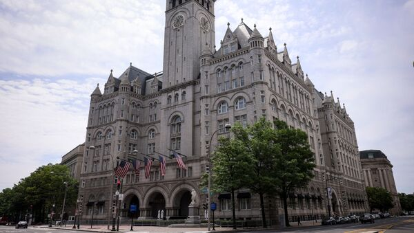The Trump International Hotel is seen on June 02, 2021 in Washington, DC. The Trump Organization is attempting to sell the lease to the hotel after failing to in 2019 before the pandemic hit.  - Sputnik International