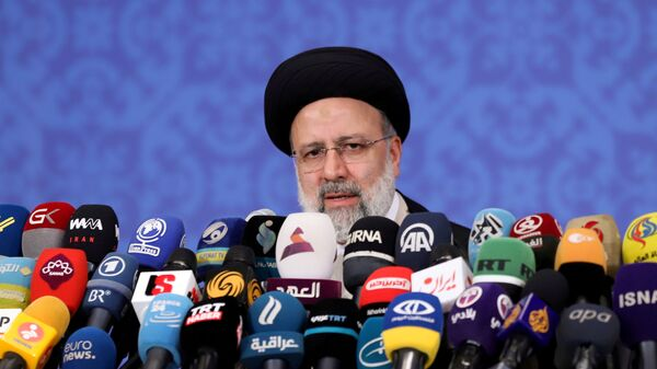 Ebrahim Raisi, who assumed office as Iran's president this month, speaks during a news conference in Tehran, Iran June 21, 2021. - Sputnik International