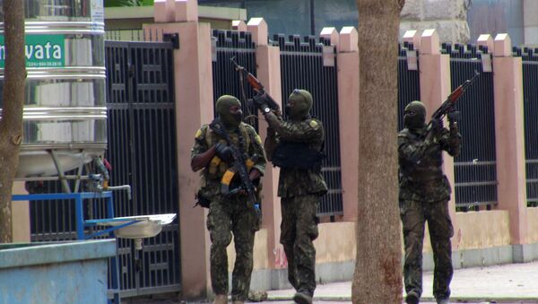 Special forces members are seen during an uprising that led to the toppling of president Alpha Conde in Kaloum neighbourhood of Conakry, Guinea September 5, 2021 - Sputnik International