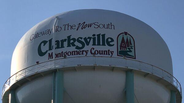 A water tower in Clarksville, Tennessee - Sputnik International