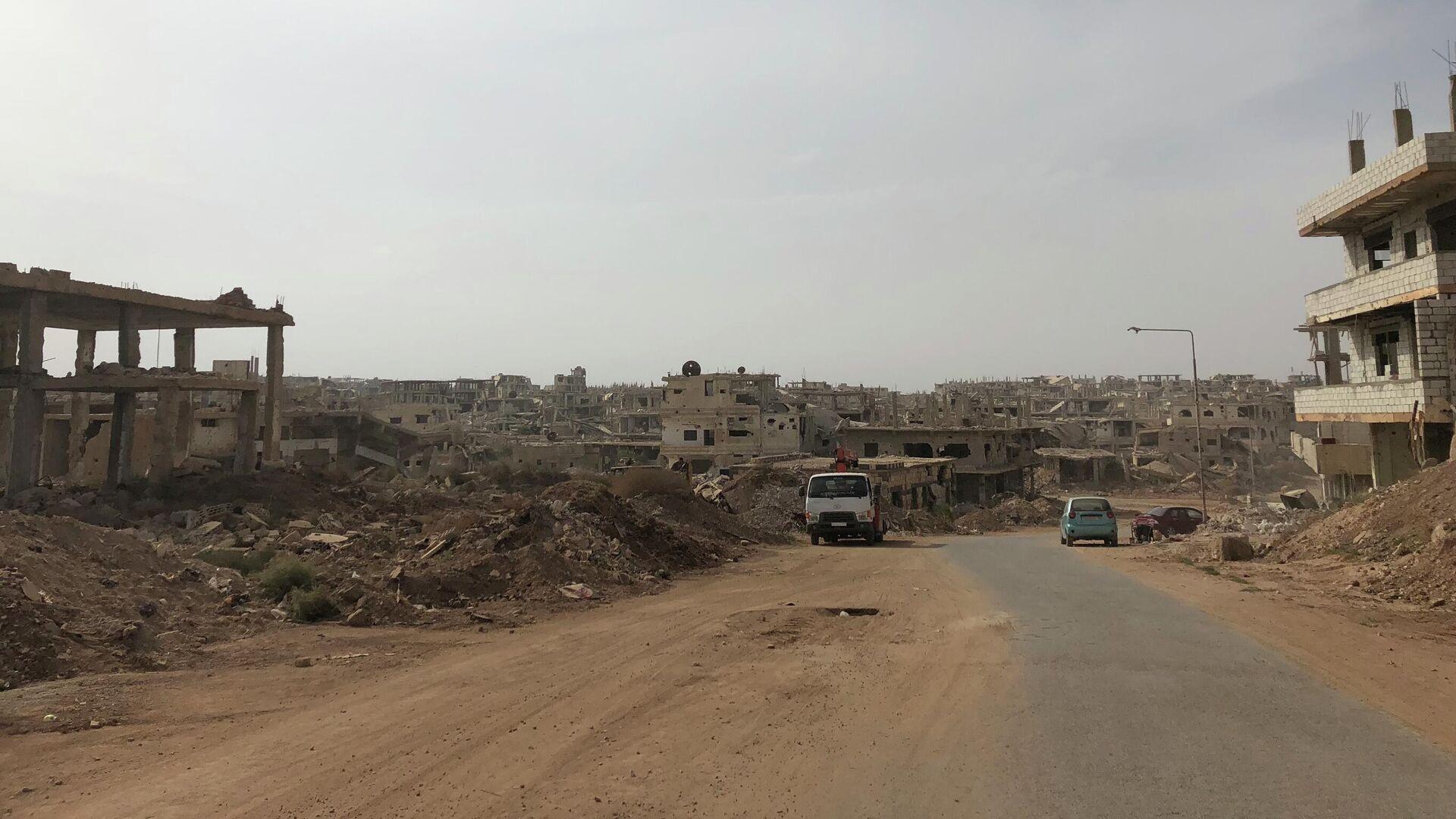 Part of the Daraa al-Balad city in Syria - Sputnik International, 1920, 08.09.2021