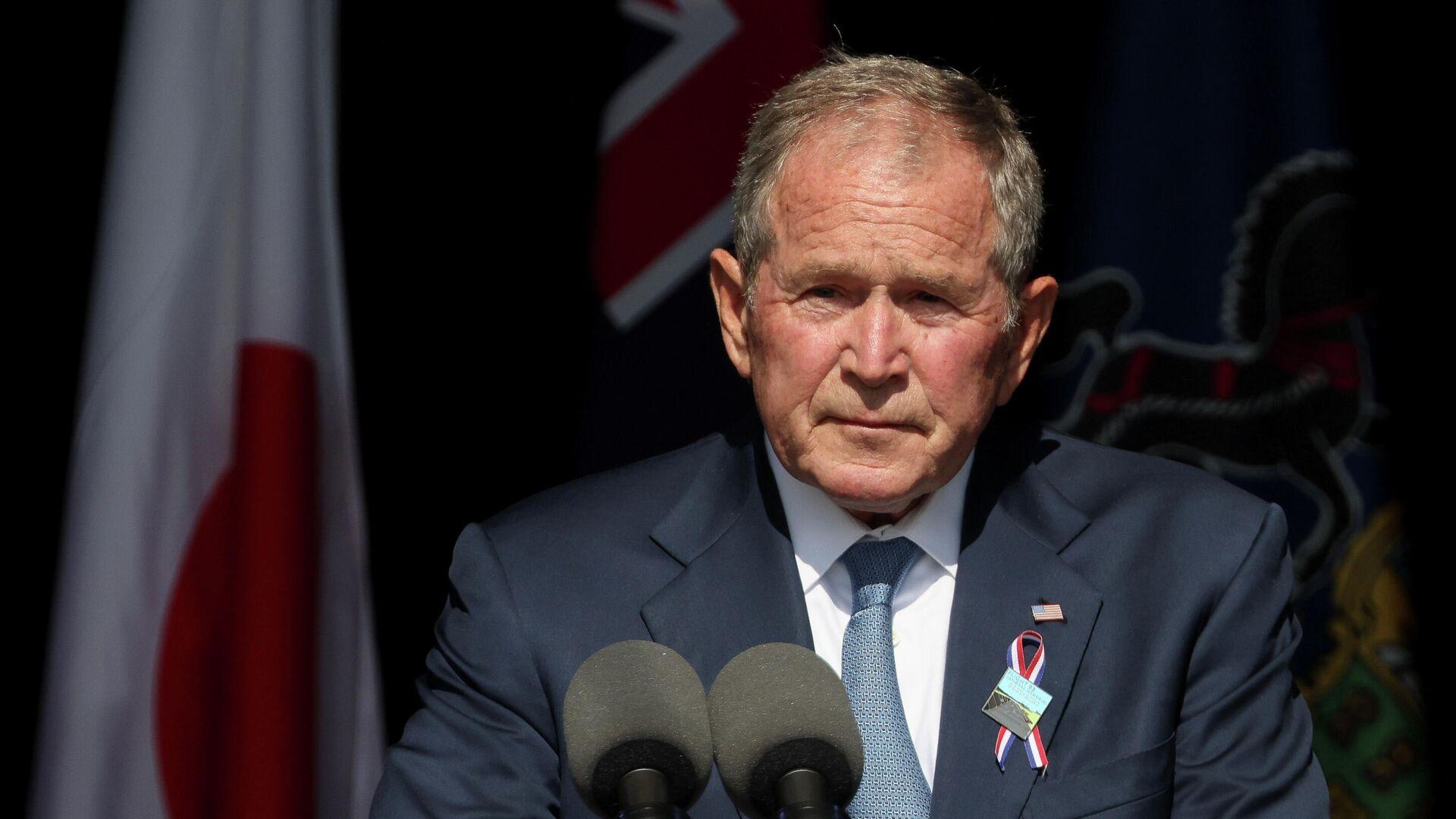 Former U.S. President George W. Bush speaks during an event commemorating the 20th anniversary of the September 11, 2001 attacks at the Flight 93 National Memorial in Stoystown, Pennsylvania, U.S., September 11, 2021. - Sputnik International, 1920, 11.09.2021