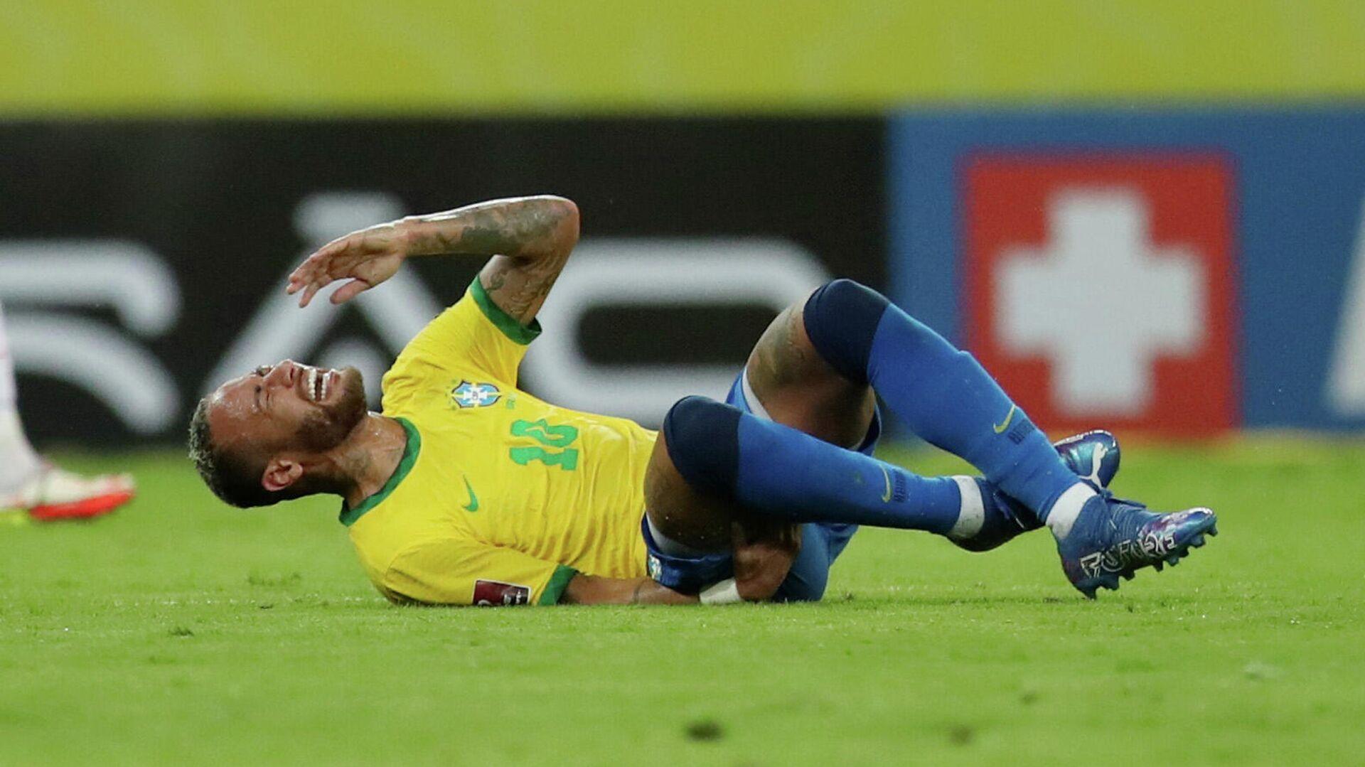 September 9, 2021 Brazil's Neymar reacts after sustaining an injury - Sputnik International, 1920, 14.09.2021