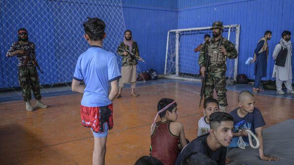 Во время визита директора Талибана по физическому воспитанию и спорту Башира Ахмада Рустамзая в спортзал в Кабуле - Sputnik International