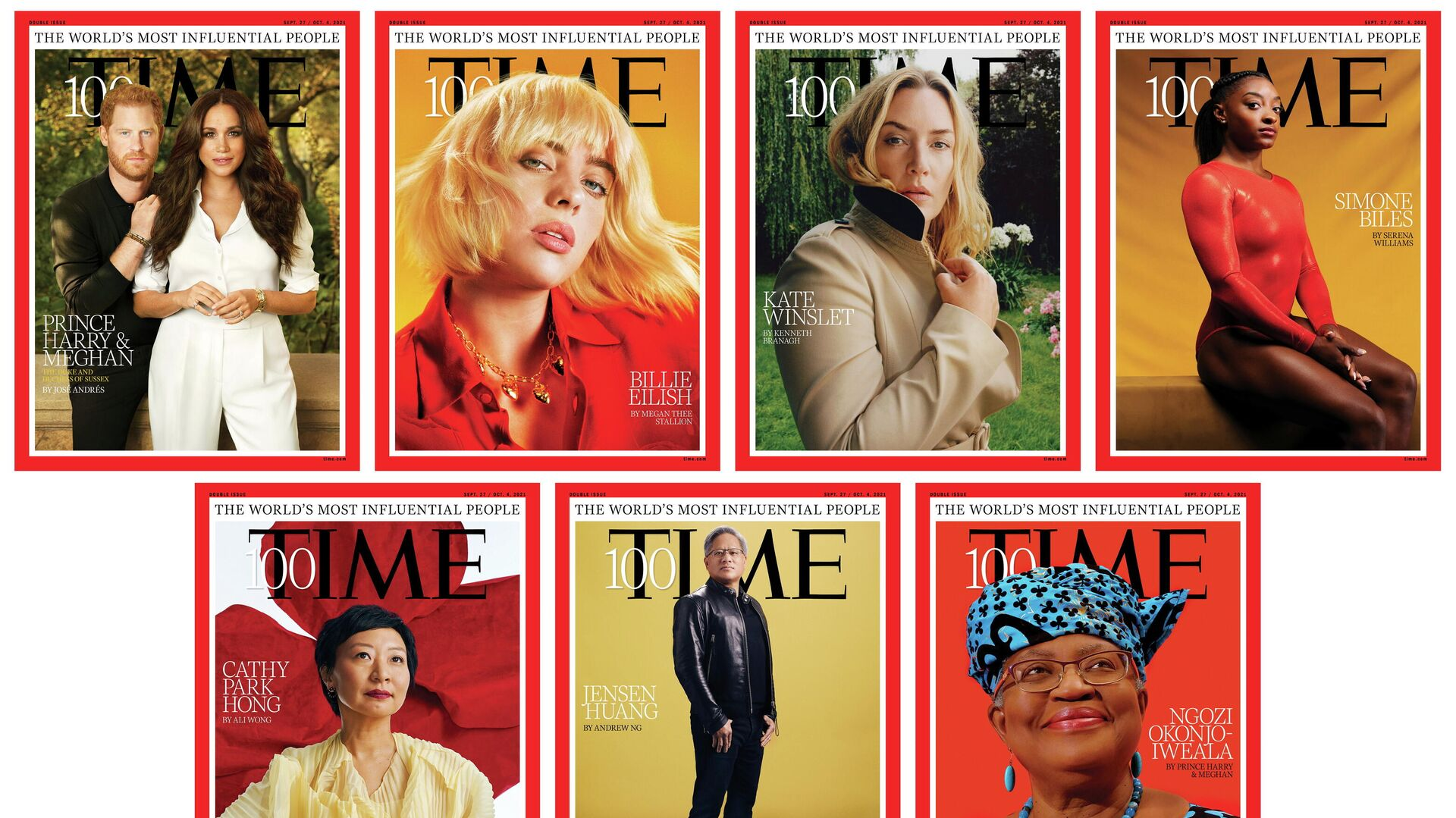 A combination of photos shows the covers of Time magazine's 100 most influential people in the world editions in this handout photo released to Reuters on September 15, 2021. - Sputnik International, 1920, 16.09.2021