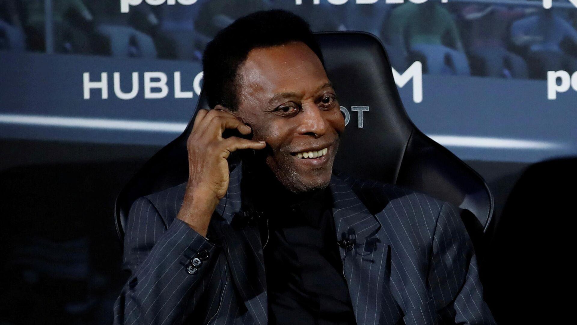 Brazilian soccer legend Pele is seen in Paris, April 2, 2019. - Sputnik International, 1920, 19.09.2021