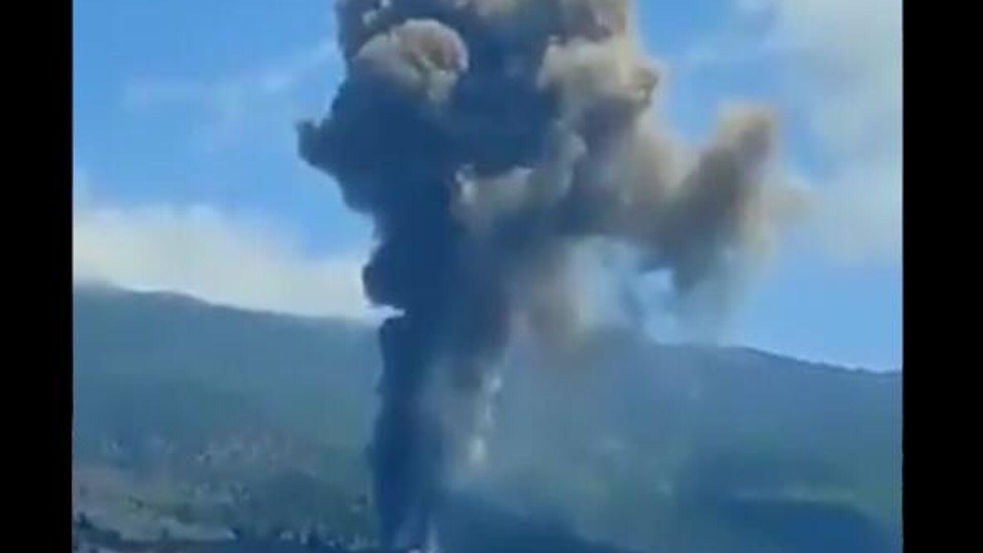 Volcanic eruption on Canary Island of La Palma, 19 September 2021 - Sputnik International, 1920, 19.09.2021