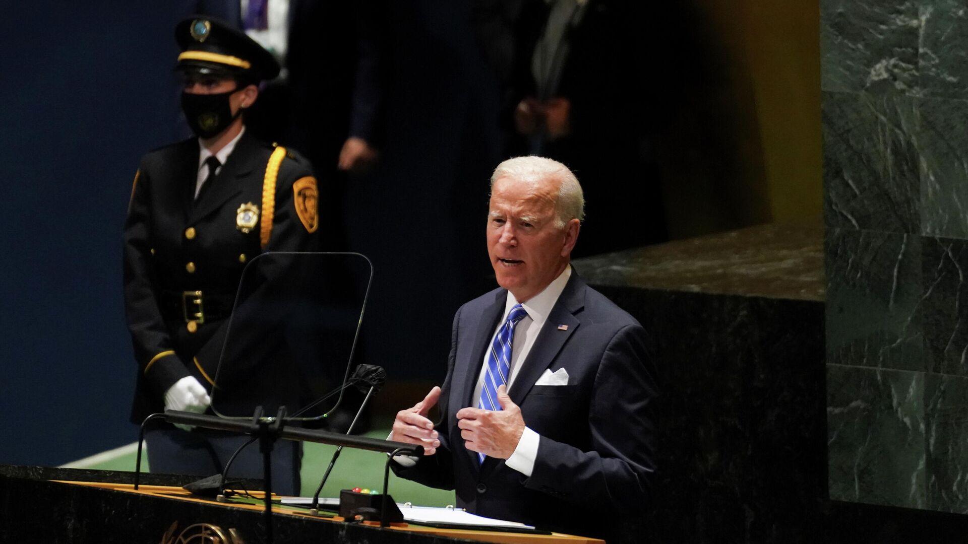 U.S. President Joe Biden addresses the 76th Session of the U.N. General Assembly in New York City, U.S., September 21, 2021. - Sputnik International, 1920, 21.09.2021