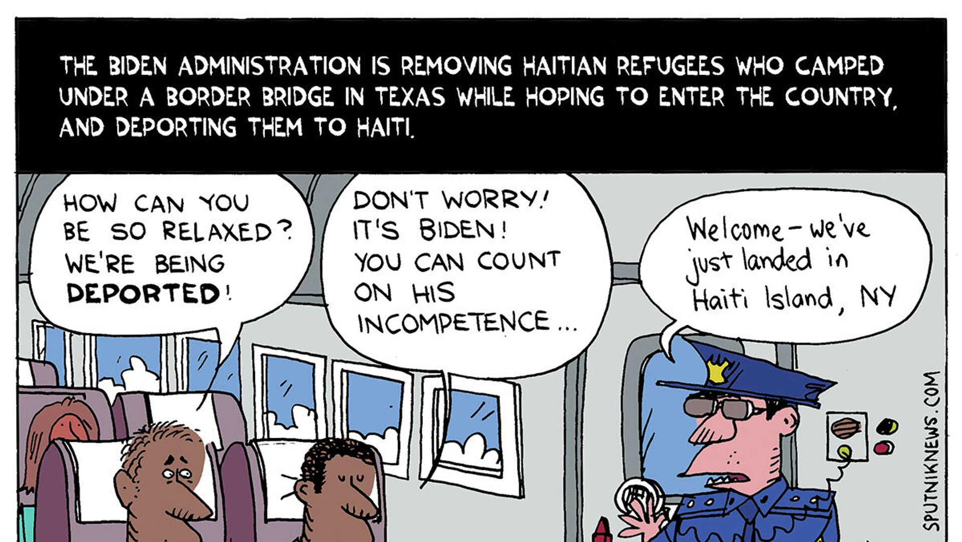 The U.S. is removing Haitians who camped under a border bridge in Texas while hoping to enter the country, and deporting them to Haiti. - Sputnik International, 1920, 21.09.2021