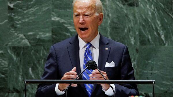 U.S. President Joe Biden addresses the 76th Session of the U.N. General Assembly in New York City, U.S., September 21, 2021 - Sputnik International