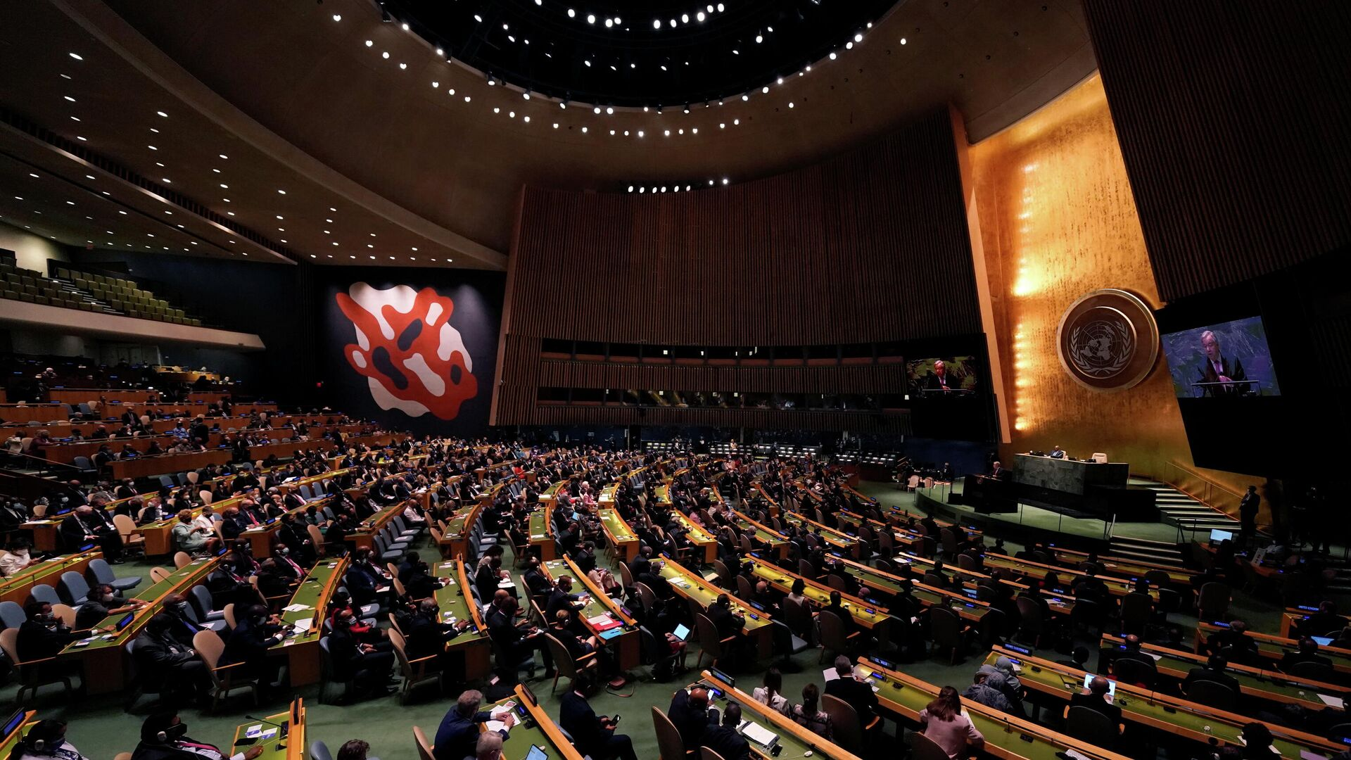 76th Session of the General Assembly at UN Headquarters in New York on September 21, 2021.  - Sputnik International, 1920, 24.09.2021