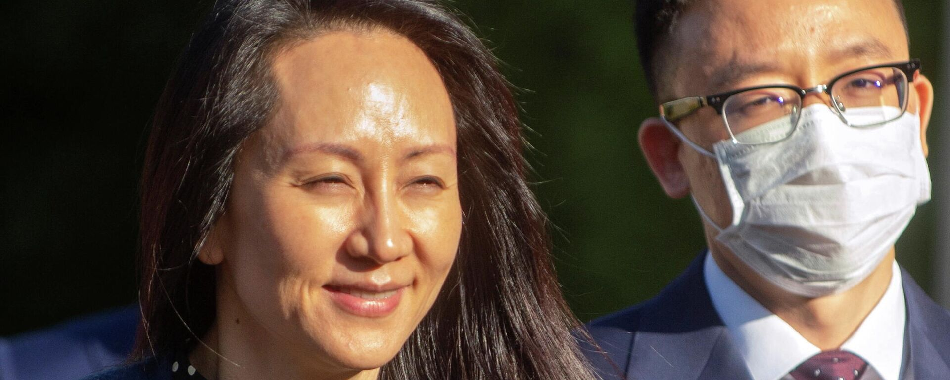 Huawei Technologies Chief Financial Officer Meng Wanzhou leaves her home to attend a virtual court hearing in Vancouver, British Columbia, Canada September 24, 2021.  REUTERS/Taehoon Kim - Sputnik International, 1920, 24.09.2021