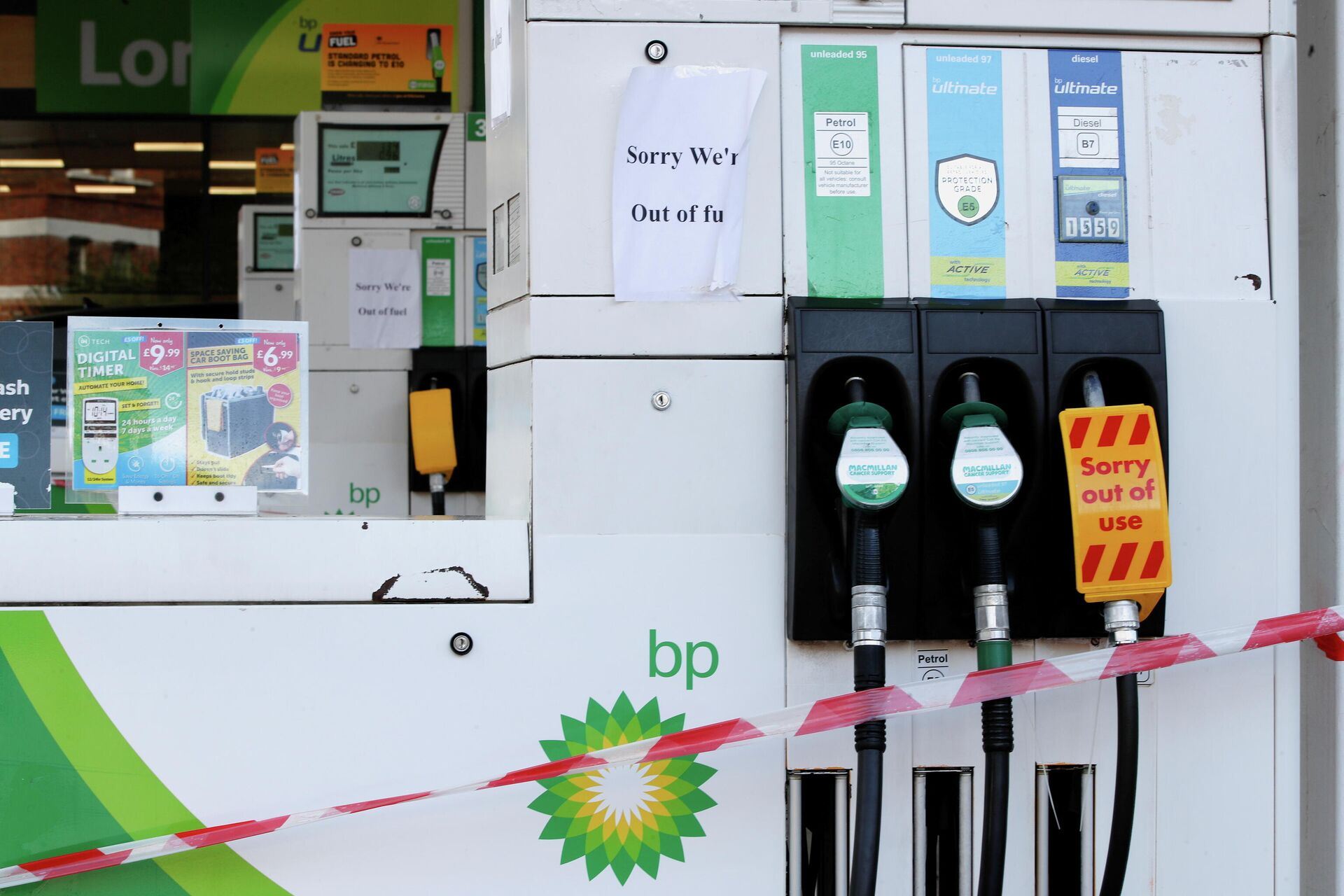 A BP petrol station that has ran out of fuel is seen in London, Britain, September 26, 2021 - Sputnik International, 1920, 27.09.2021