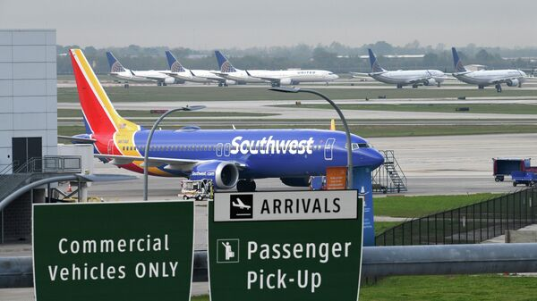 FILE PHOTO: A Southwest Airlines Boeing 737 MAX 8 aircraft is pictured in front of United Airlines planes, including Boeing 737 MAX 9 models, at William P. Hobby Airport in Houston - Sputnik International