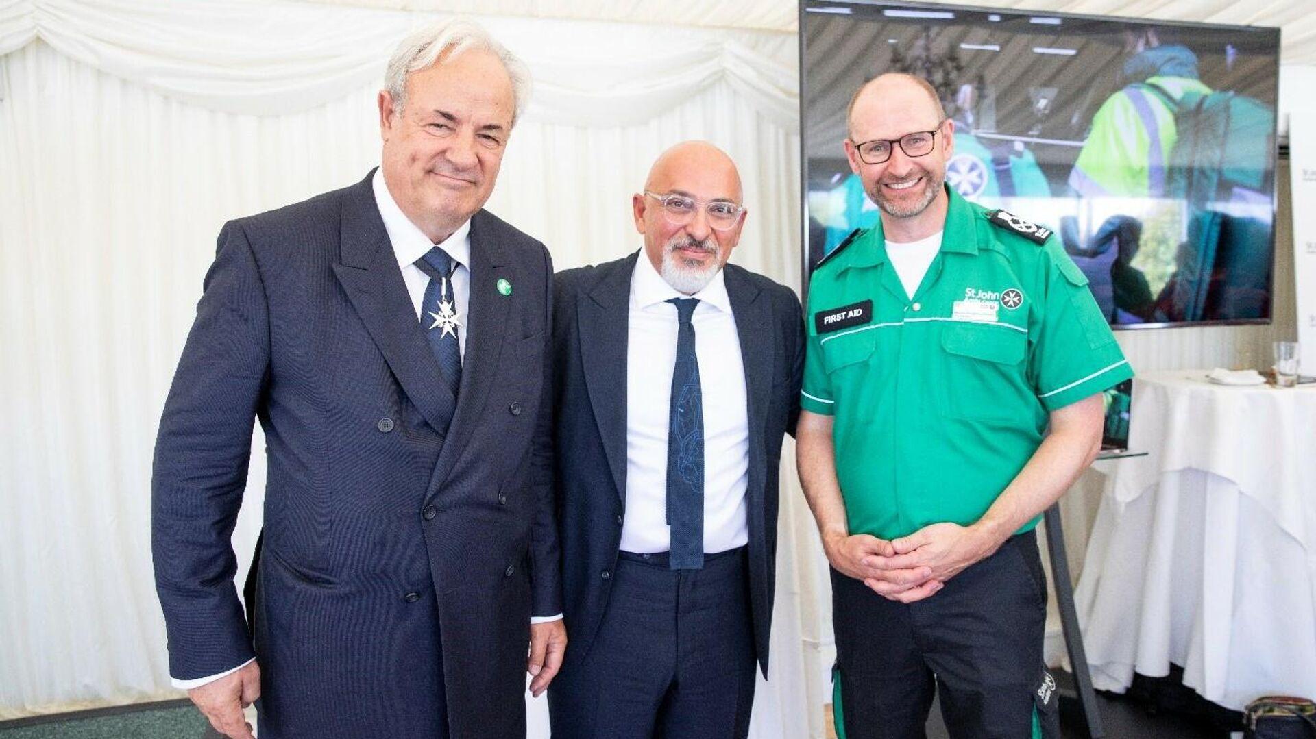 Tory MP James Gray, Nadhim Zahawi and SJA chief exec Martin Houghton-Brown at the event - Sputnik International, 1920, 12.10.2021