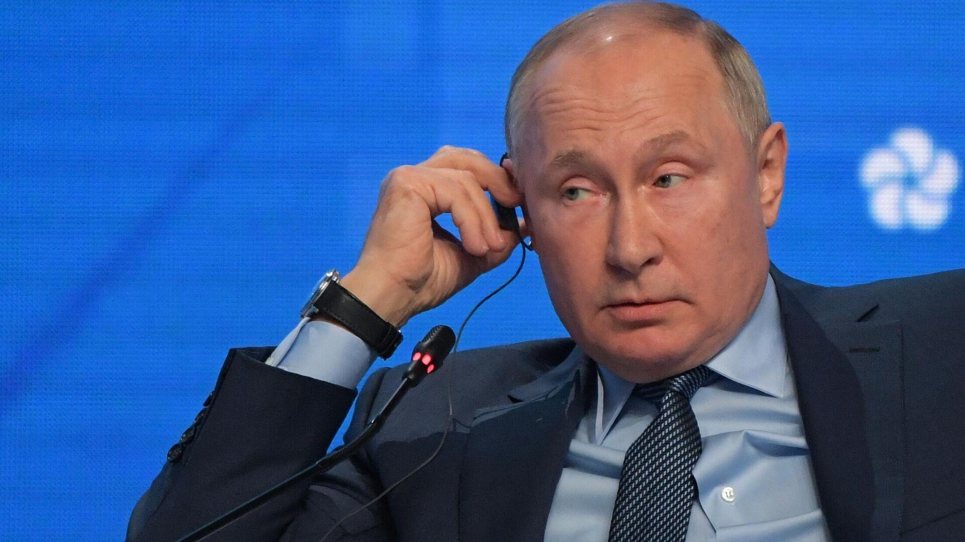 President Vladimir Putin speaking at the Russian Energy Week Forum in Moscow, 13 October 2021. - Sputnik International, 1920, 13.10.2021