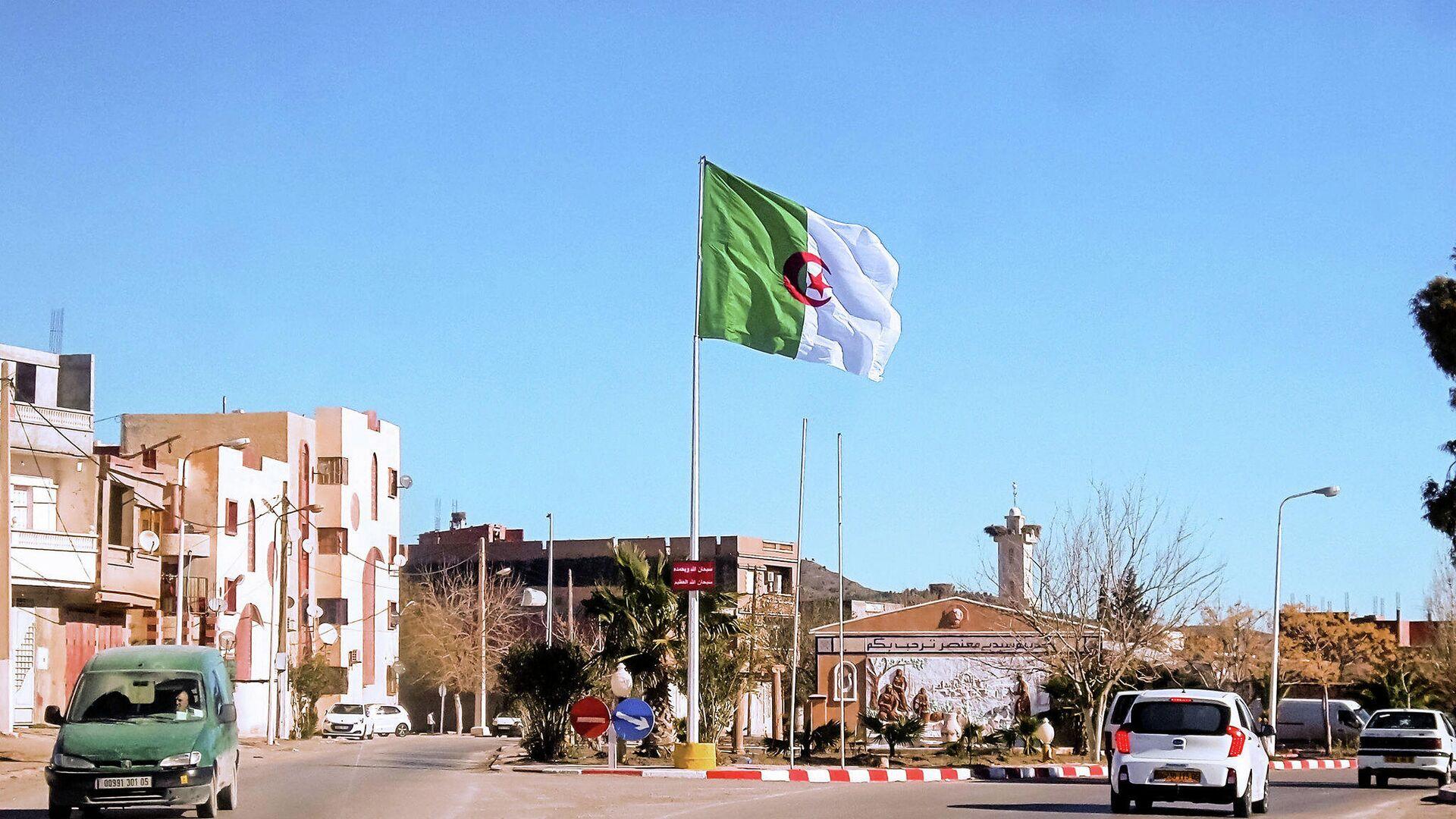 The Algerian flag flies in the commune of Ouyoune El Assafir, Batna Province - Sputnik International, 1920, 13.10.2021