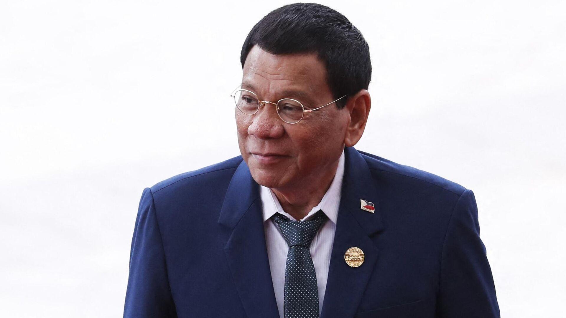 (FILES) In this file photo taken on April 10, 2018, Philippine President Rodrigo Duterte - Sputnik International, 1920, 14.10.2021