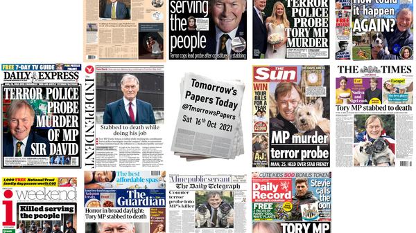 British newspapers' reaction to Tory MP David Amess's stabbing death. - Sputnik International