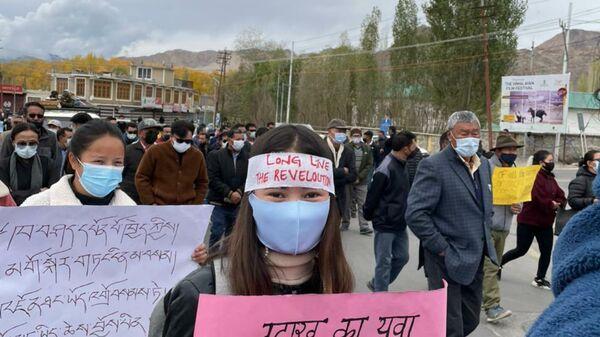 Protest in Ladakh, India - Sputnik International