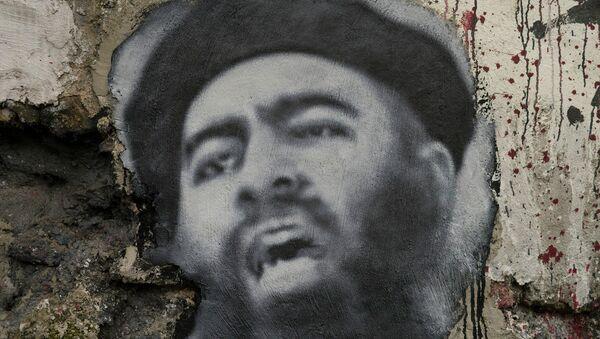 Painted portrait of Abu Bakr al Baghdadi - Sputnik International