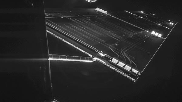 A selfie taken by the Rosetta probe on October 7. - Sputnik International