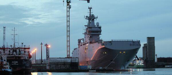 France Russian Warship - Sputnik International