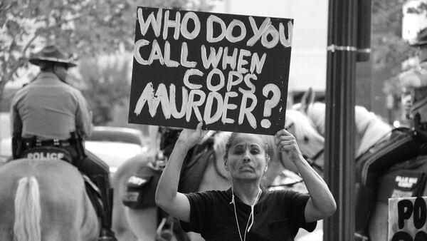 National Day of Protest to Stop Police Brutality, October22, 2014 - Sputnik International