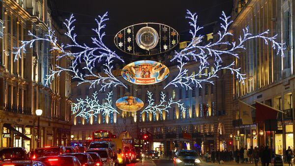 Christmas lights and decorations in Regent Street, London - Sputnik International