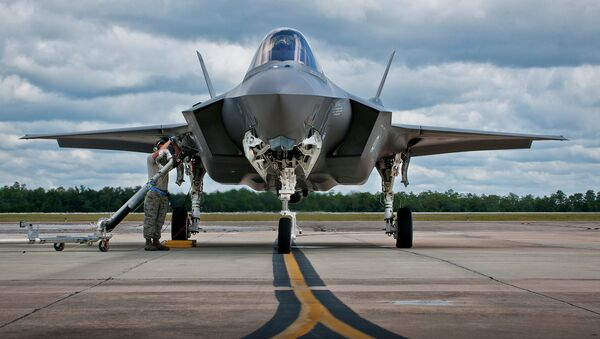An F-35 being refueled at Eglin Air Force Base in Florida. - Sputnik International