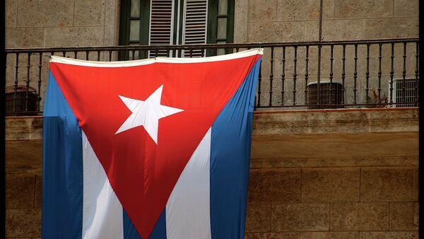 Cuban flag hanging in Havana - Sputnik International